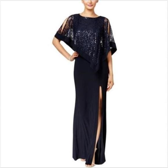 4c966271 R&M Richards Dresses | R M Richards Petite Sequined Lace ...